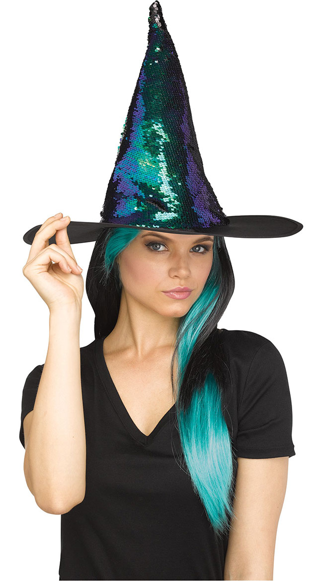 Magic Sequin Switch Witch Hat by Fun World