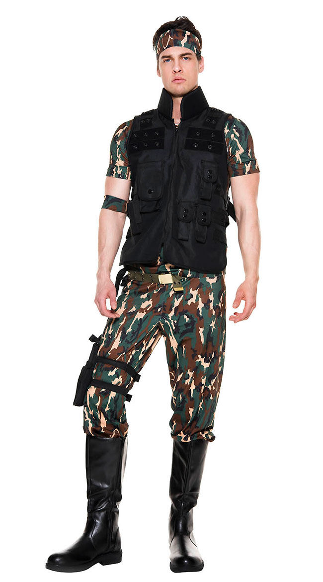 Men's Army Salute Costume by Music Legs