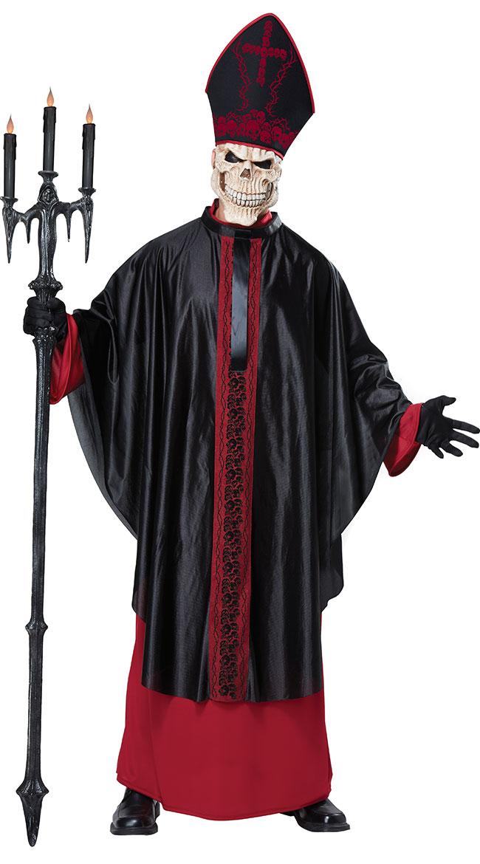 Men's Black Mass Costume by California Costumes