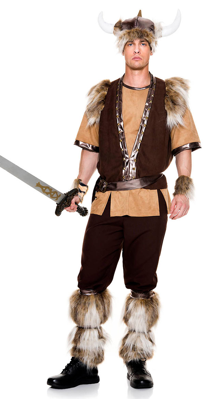 Men's Brave Viking Costume by Music Legs