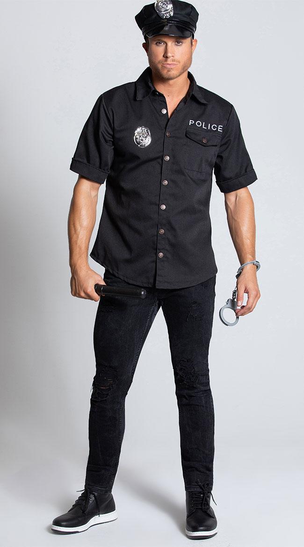 Men's Cop Costume by Leg Avenue
