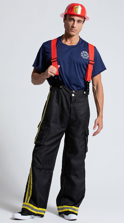 Mens Firefighter Costume by Leg Avenue