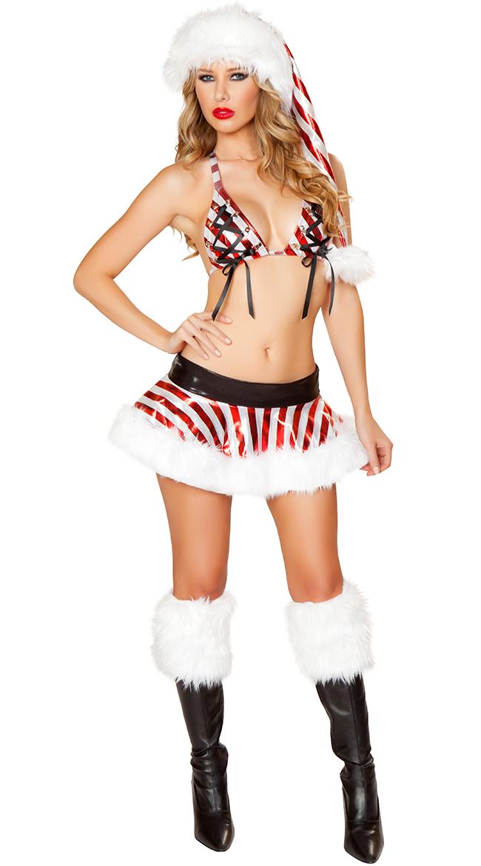 Metallic Candy Cane Skirt Set by J Valentine