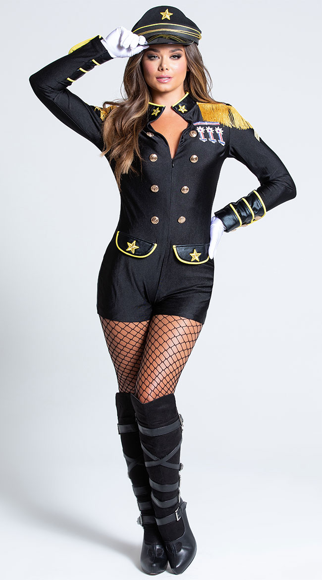 Military General Beauty Costume by Music Legs