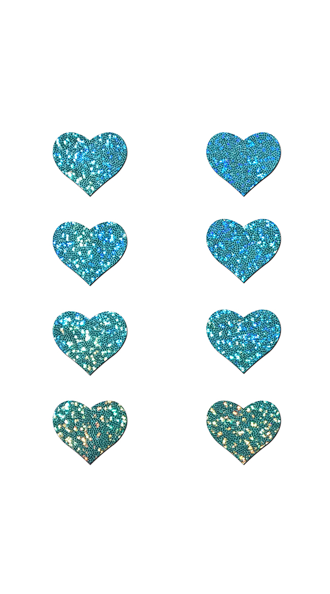 Mini Seafoam Green Heart Pasties by Pastease - sexy lingerie