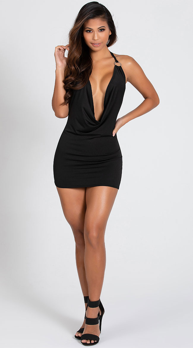 O Ring Cowl Neck Dress by Roma