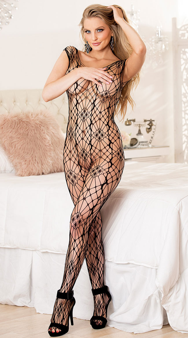 Ona Open Weave Bodystocking by Shirley of Hollywood