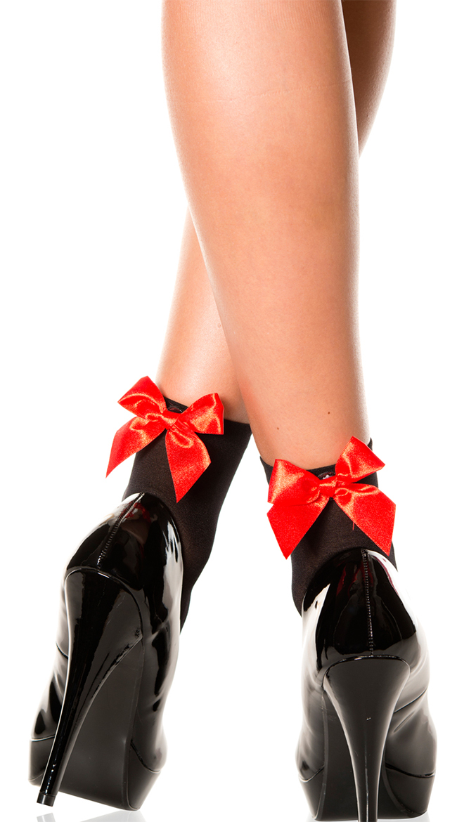 Opaque Anklet with Bow by Music Legs