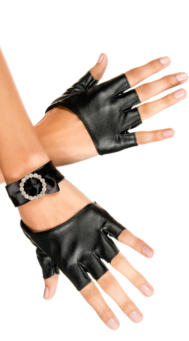 Oval Cut Out Gloves by Music Legs