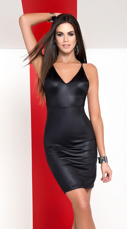 Pitch-Black Zip Up Dress by Mapale