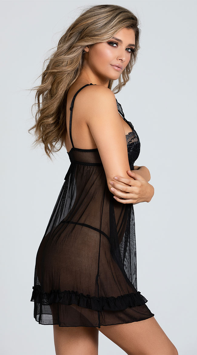 Plus Size Bare All Babydoll Set by Shirley of Hollywood