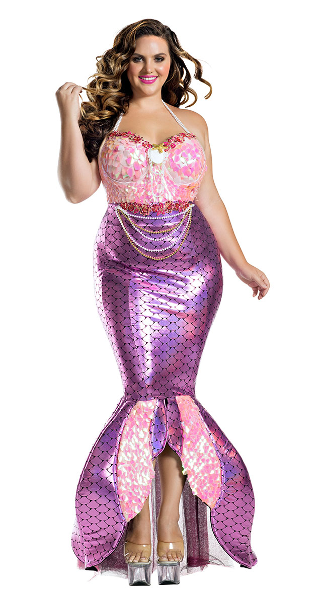 Plus Size Blushing Beauty Mermaid Costume by Party King