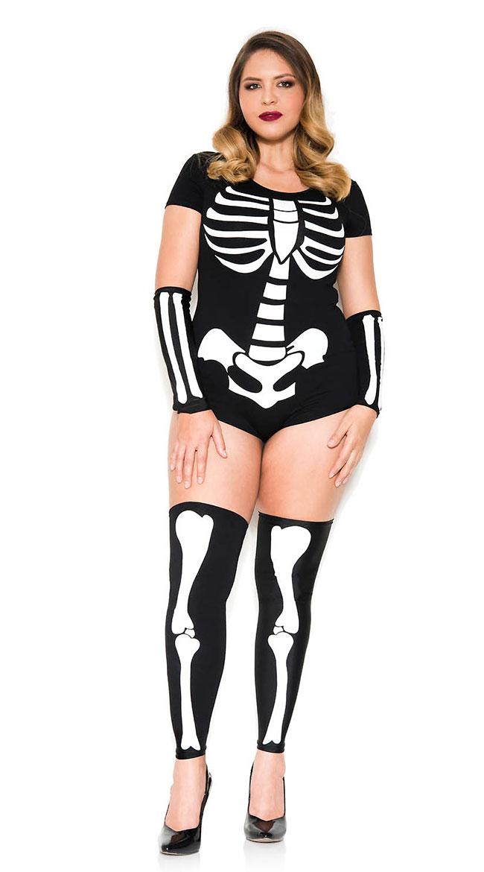 Plus Size Bone Babe Costume by Music Legs