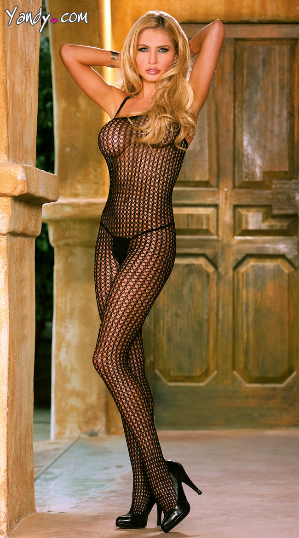 Plus Size Crochet Bodystocking by Elegant Moments