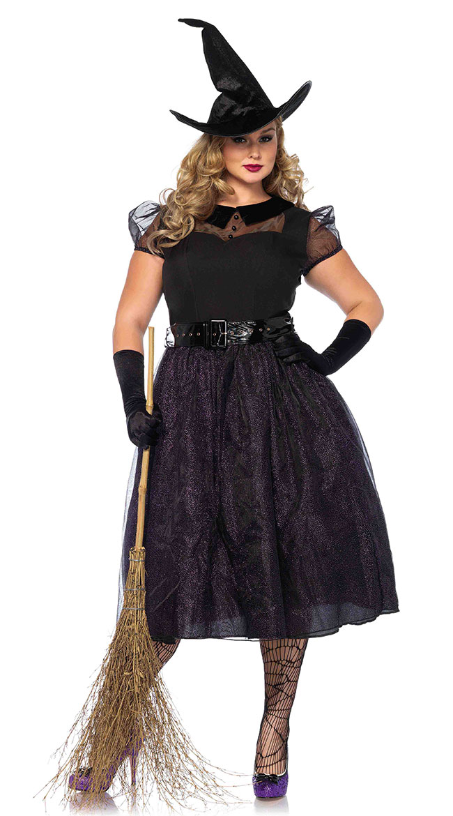 Plus Size Darling Spellcaster Costume by Leg Avenue