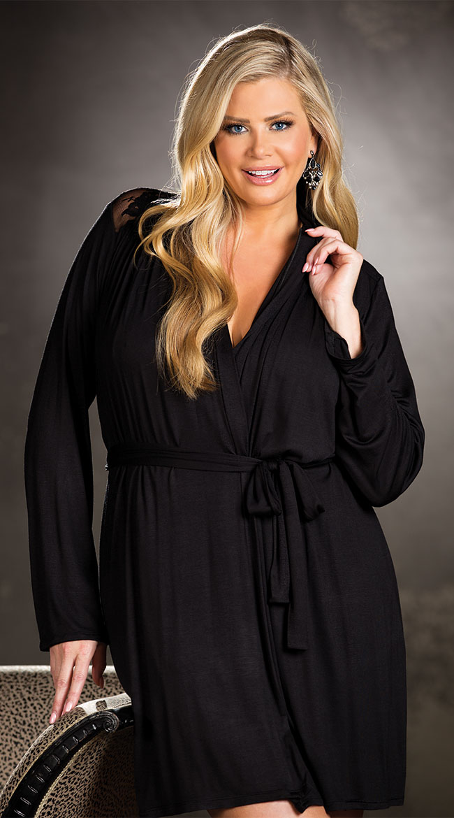 Plus Size Draping Robe Set by Shirley of Hollywood
