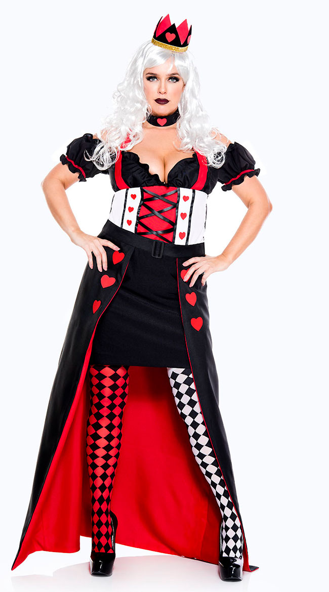 Plus Size Enchanting Royal Heart Queen Costume by Music Legs
