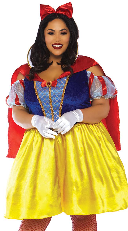 Plus Size Fairy Tale Snow White Costume by Leg Avenue