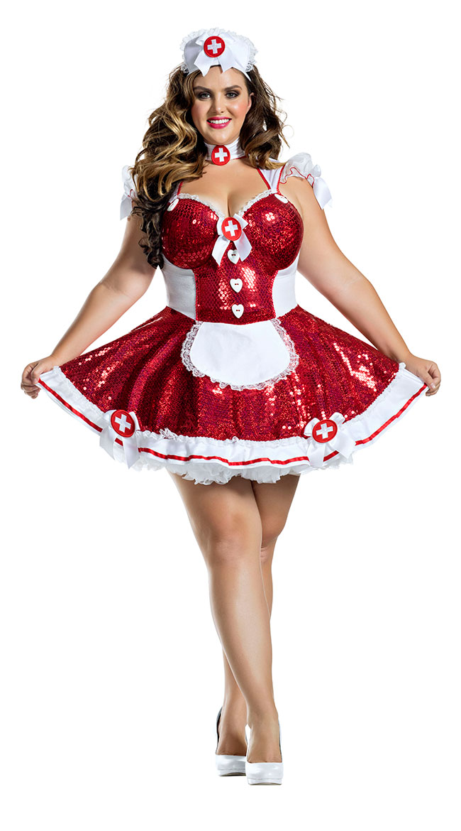 Plus Size Glam Nurse Costume by Party King