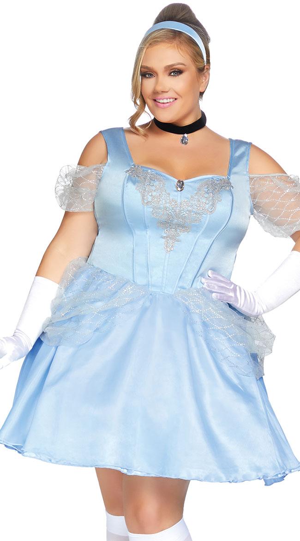 Plus Size Glass Slipper Sweetie Costume by Leg Avenue