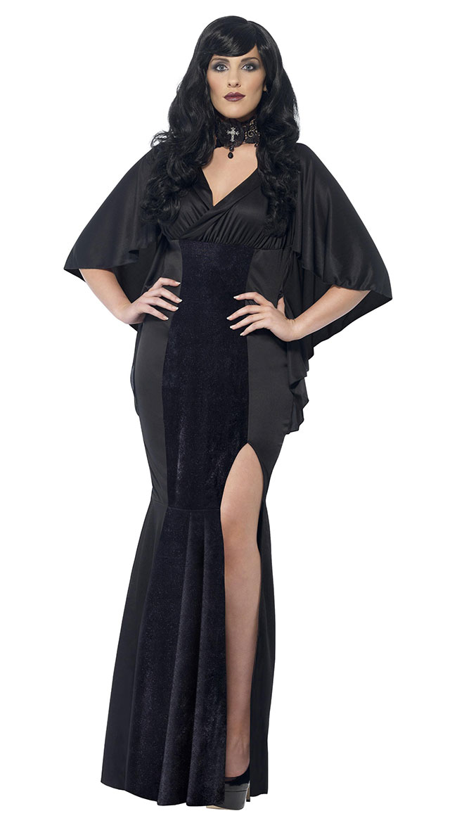 Plus Size Gothic Vamp Costume by Fever
