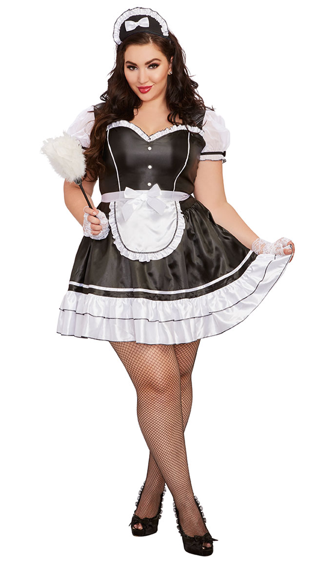 Plus Size Keep It Clean Costume by Dreamgirl