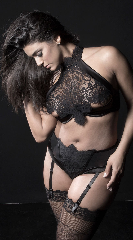 Plus Size Louise Gartered Panty by Oh La La Cheri