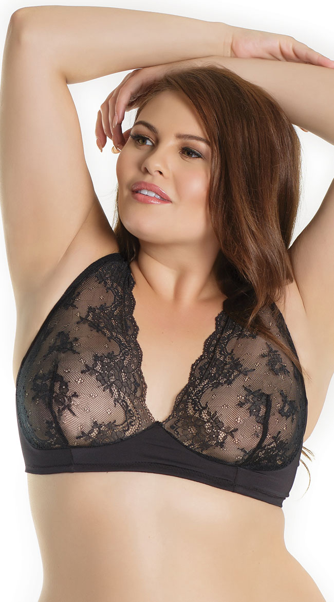 Plus Size Lure Me In Lace Bralette by Coquette
