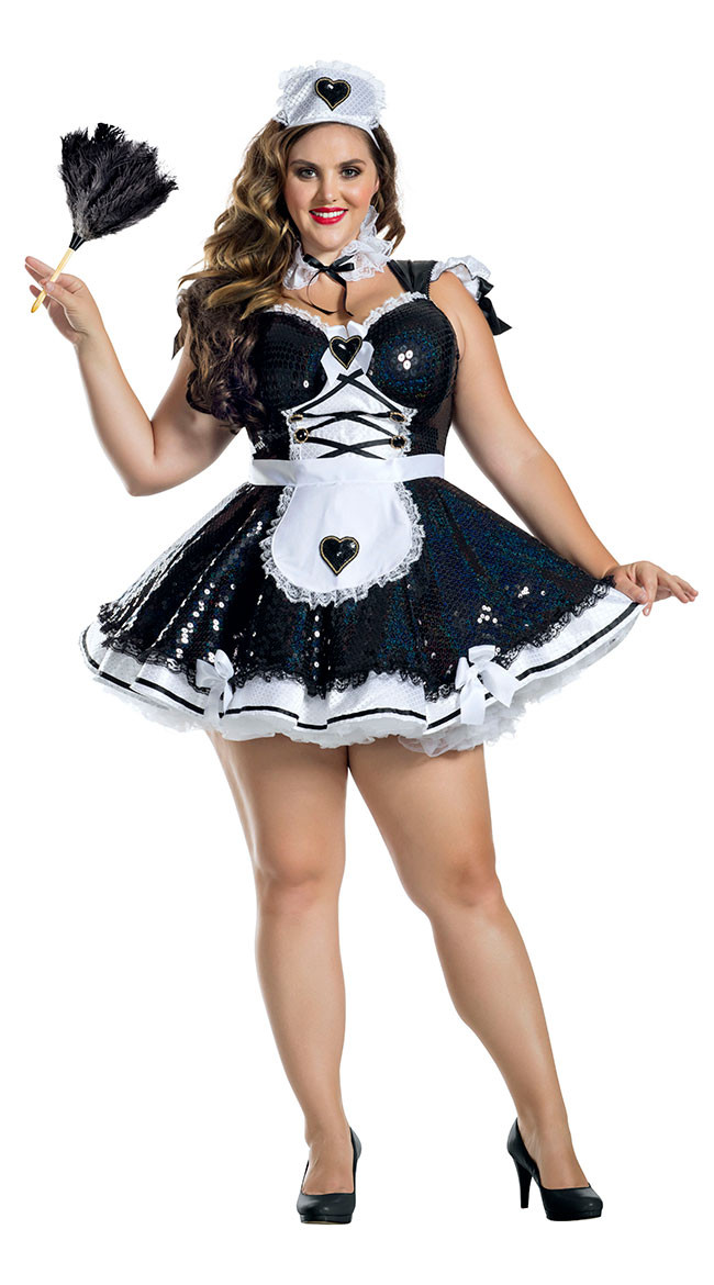 Plus Size Marvelous Maid Costume by Party King