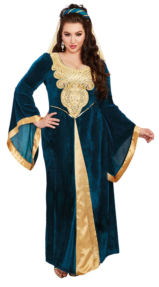 Plus Size Medieval Maiden Costume by Dreamgirl