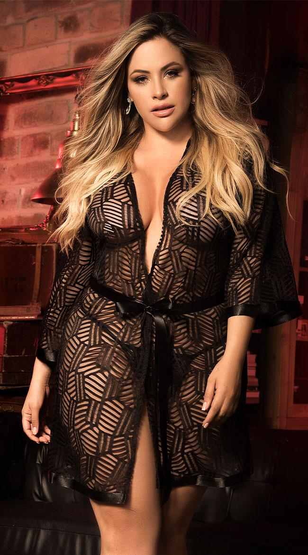 Plus Size No Limits Robe Set by Mapale