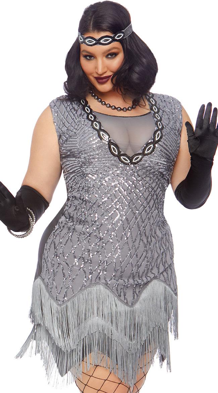 Plus Size Roaring Roxy Costume by Leg Avenue