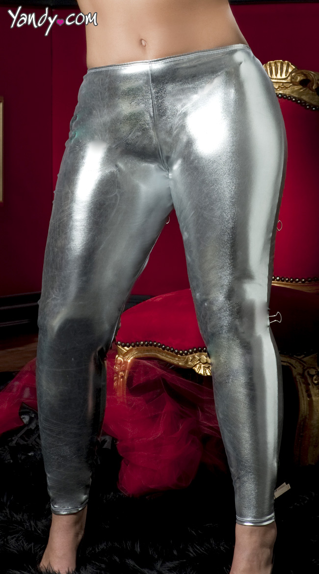 Plus Size Shiny Stretch Lame Tights by Seven 'Til Midnight