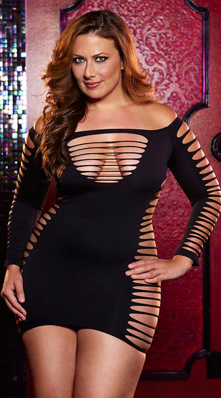 Plus Size Single Lady Mini Dress by XGEN Products