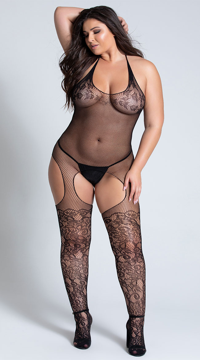 Plus Size Spell On You Bodystocking by Be Wicked