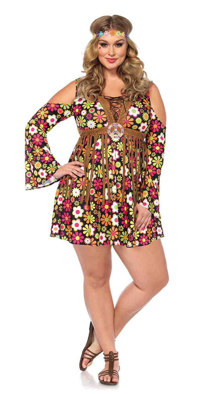 Plus Size Star Flower Hippie Costume by Leg Avenue