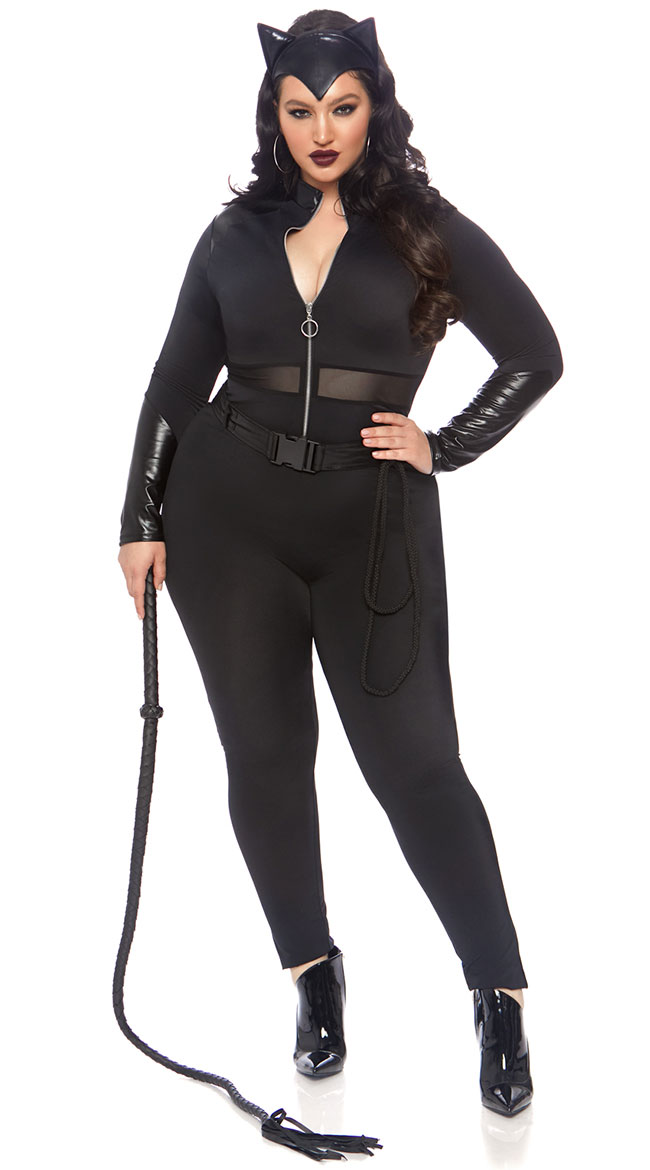 Plus Size Sultry Supervillain Costume by Leg Avenue