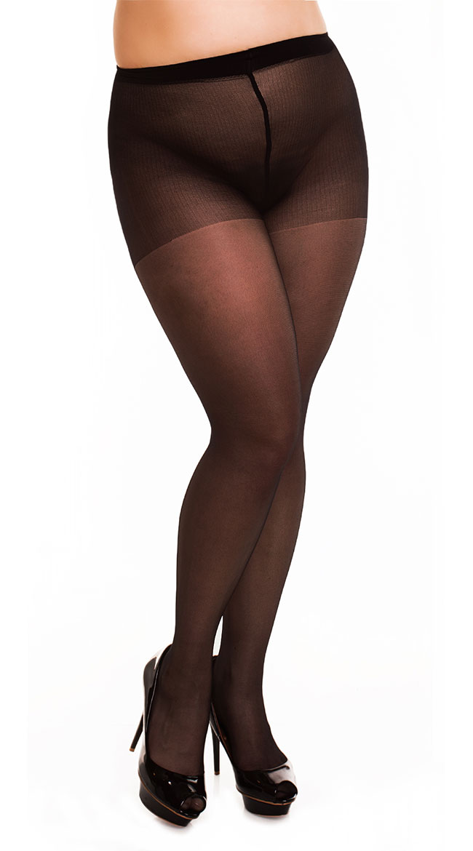 Plus Size Transparent Pantyhose by Glamory Hosiery