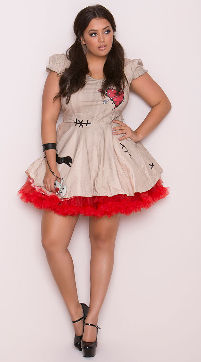 Plus Size Voodoo Doll Vixen Costume by Seeing Red