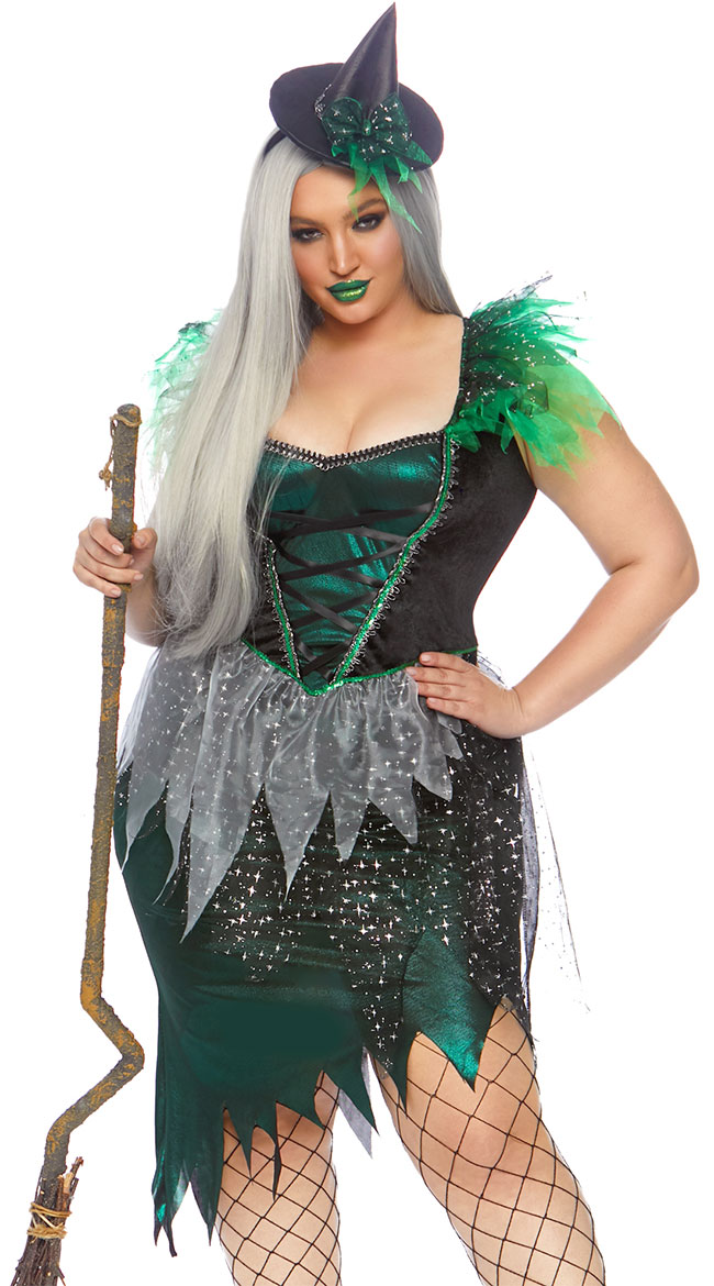 Plus Size Wicked Nightmare Witch Costume by Leg Avenue