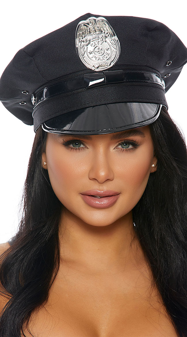 Police Hat With Badge by Forplay