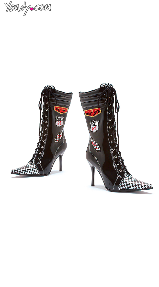 Racer Babe Stiletto Bootie by Ellie Shoes
