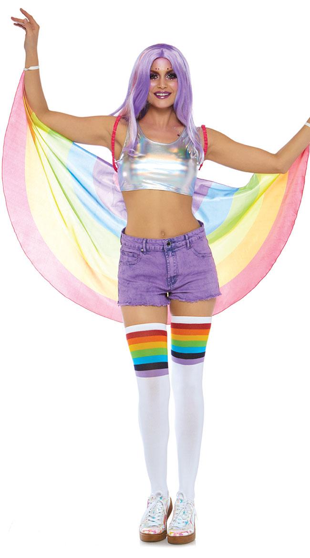 Rainbow Wings by Leg Avenue - sexy lingerie