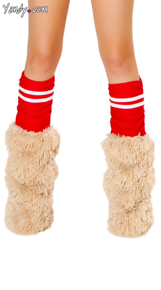 Red Sporty Legwarmers by J Valentine / Red Costume Leg Warmers