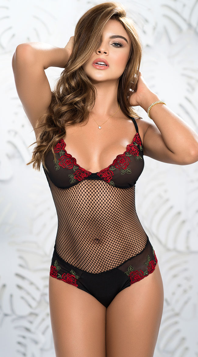 Rose Garden Netted Teddy by Mapale