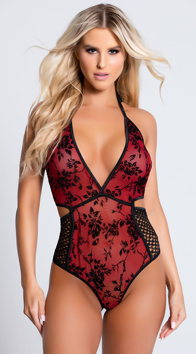 Rose Red Temptress Teddy by Coquette