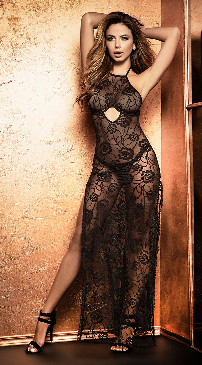 Roses Are Red Lingerie Gown Set by Mapale