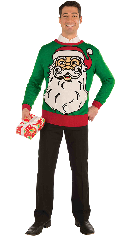 Santa Print Christmas Sweater by Forum Novelties