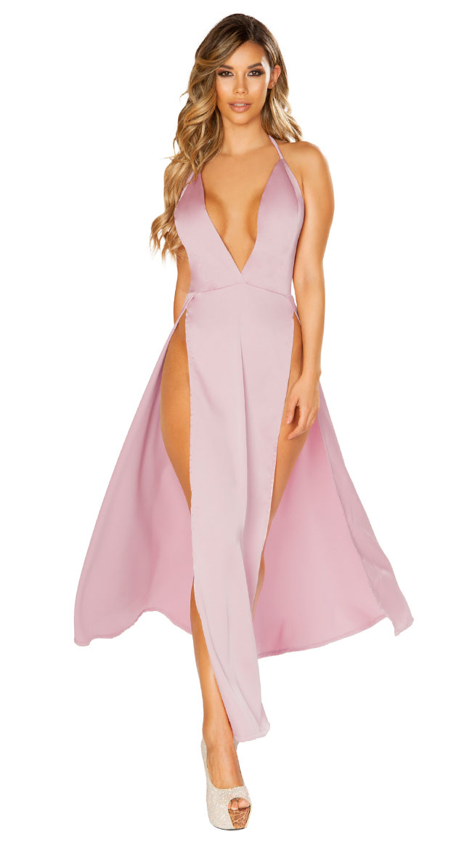 Satin Elegance Pink Dress by Roma
