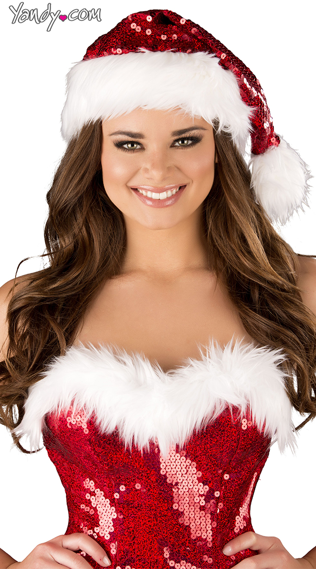 Sequin Santa Hat by Roma